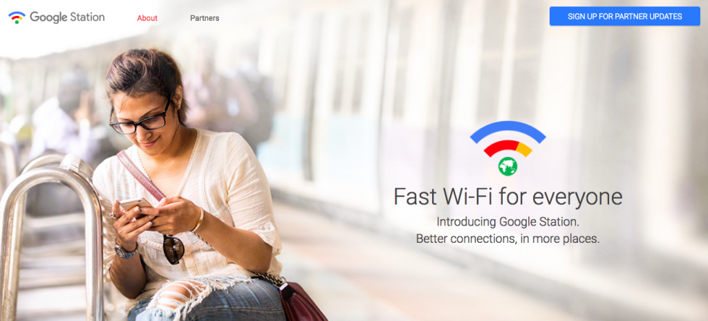 Google Station provides free wifi based on India's rail network infrastructure